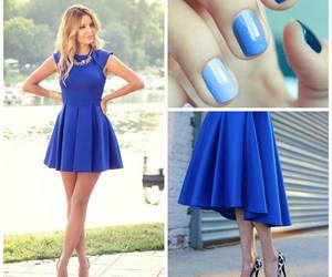 blue, cool, and dress image