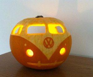 Halloween, pumpkin, and vw image