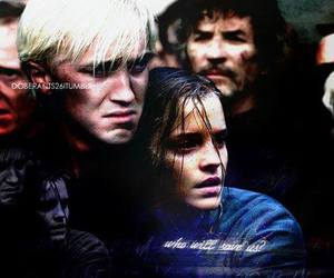 harry potter, hermione, and malfoy image
