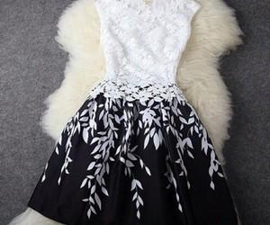 black, dresses, and fashion image