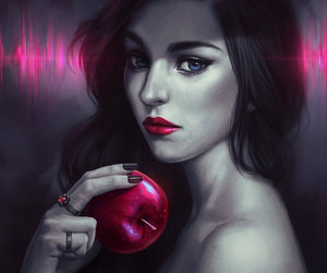 art, apple, and snow white image