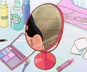 anime, aesthetic, and mirror image