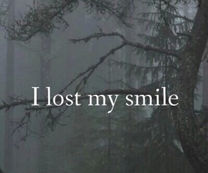 smile, lost, and sad image