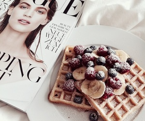 breakfast, vogue, and waffles image