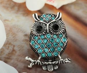 crystal owl rings