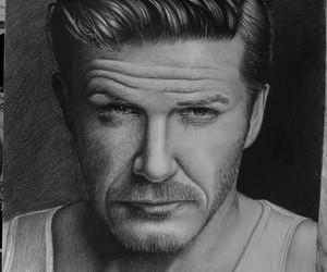art, drawing, and David Beckham image