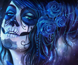 day of the dead, skull, and photography image