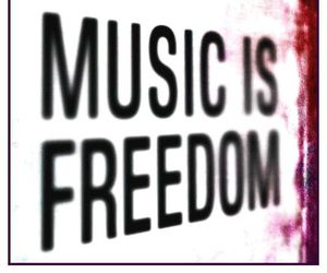 music and freedom image