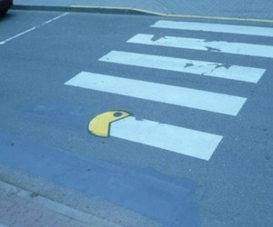 pacman, street, and funny image