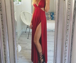 dress, red, and red dresses image