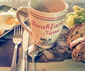breakfast, matin, and morning image