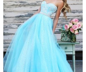 dress, blue, and sherri hill 11186 image