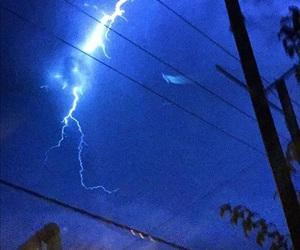 blue, aesthetic, and lightning image