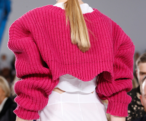 Christian Dior, knitwear, and ponytail image
