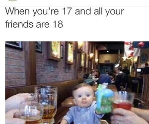 funny, baby, and friends image