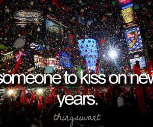 kiss, new years, and text image