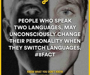 personality, facts, and language image