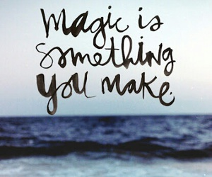 magic, quotes, and sea image
