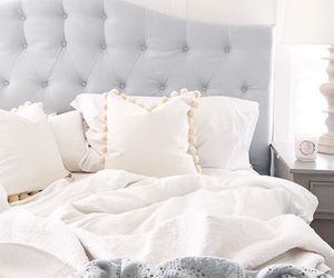 bed, white, and clean image
