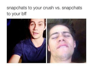 snapchat, dylan o'brien, and funny image