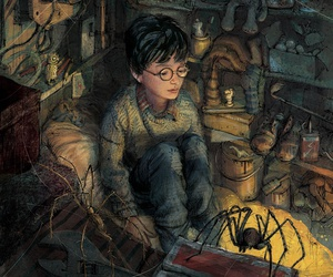 harry potter, book, and art image