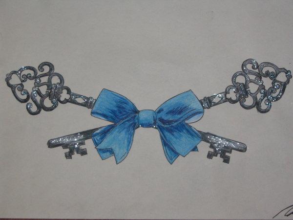 tattoo, bow, and ribbon image