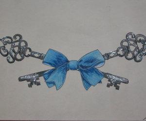 bow, ribbon, and tattoo image