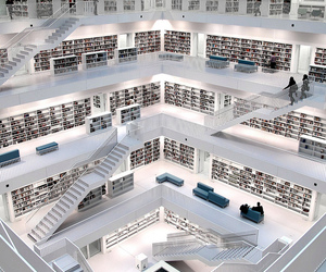 architecture, color, and library image
