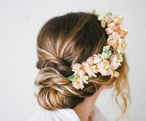 fashion, hairdos, and flower crowns image