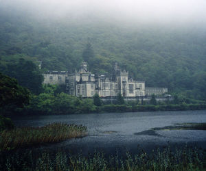 castle, lake, and photography image