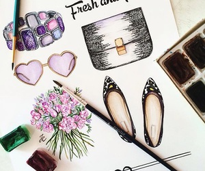 drawing, fashion, and shoes image