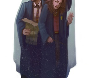 harry potter, drawing, and hogwarts image