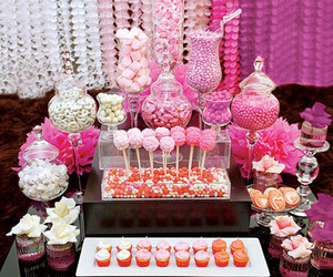 candy, pink, and wedding image