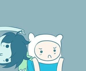 adventure time, finn, and marshall lee image