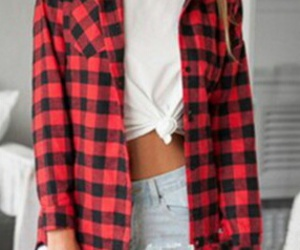 fashion, red, and ripped jeans image