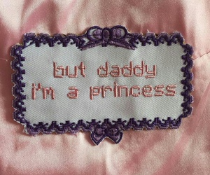 baby girl, pink, and daddy image
