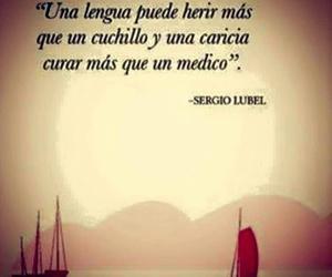 vida, frases español, and herir image