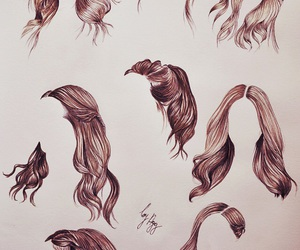 drawing and hair image