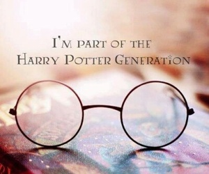 book, glasses, and harry potter image
