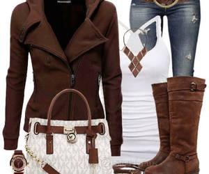 autumn, boots, and bracelet image