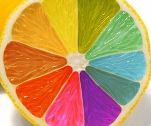 rainbow, lemon, and orange image