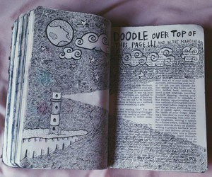 book, draw, and journal image