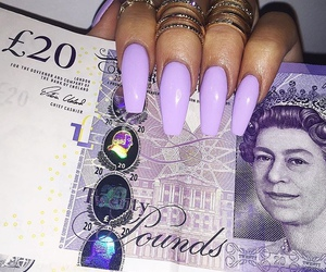 nails, purple, and money image
