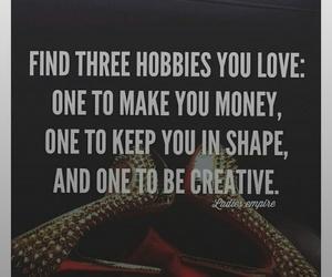 creative, love, and hobbies image