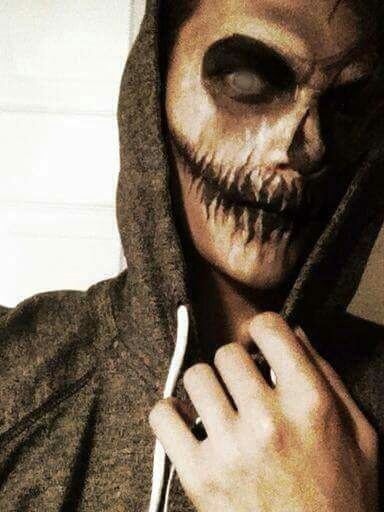 Scary makeup Halloween for boys on We Heart It