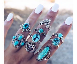 nails, rings, and beautiful image
