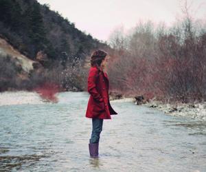 girl, fashion, and coat image