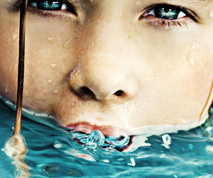 blue eyes, flickr, and water image