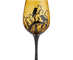 entertaining, hand painted, and wine glasses image