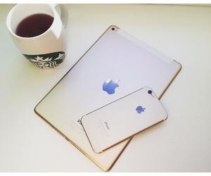 apple, iphone, and starbucks image